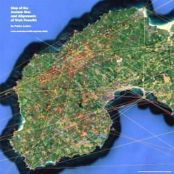 Map of the Ancient Sites and Alignments in West Penwith, Cornwall - click to view on Google Maps