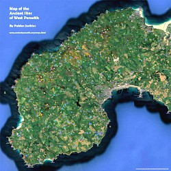 Map of the Ancient Sites in West Penwith - click to view on Google Maps