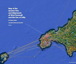 Map of the Ancient Site Alignments of West Cornwall and Scilly