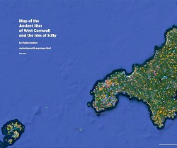 Map of the Ancient Sites of West Cornwall and Scilly - click to view on Google Maps