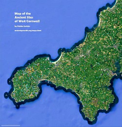 Map of the Ancient Sites of West Cornwall - click to see it on Google Maps