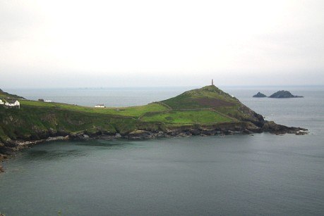 Cape Cornwall (Kilguth Ust) from Cape Kenidjak, with the Brisons behind