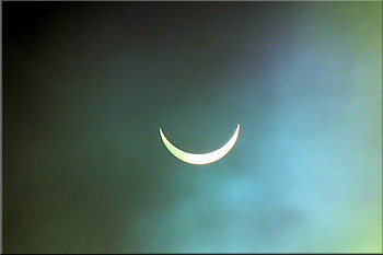 Near-total solar eclipse, 20th March 2015, from the Botrea Barrows