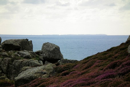 Isles of Scilly from Carn Boel