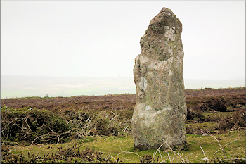 Boswens menhir near Tregeseal stone circle