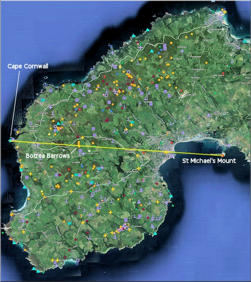 Ancient site clustering in West Penwith