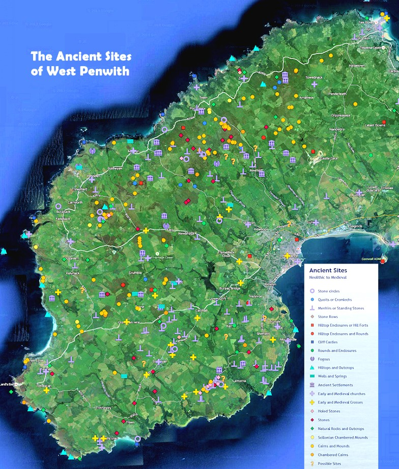 The ancient sites of West Penwith, Cornwall