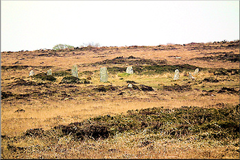 The Nine Maidens or Boskednan stone circle